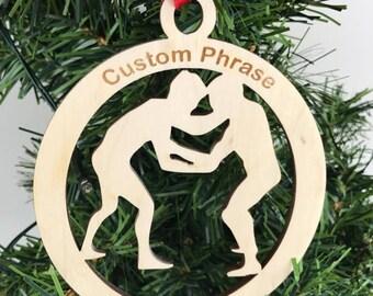 Wrestling Ornament, Wrestler Gift, Wrestling Present, Wrestling Keepsake,  Custom wrestler, Wrestling Engraved, Sports Ornament