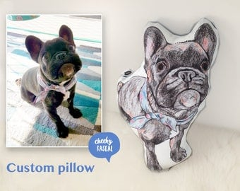 Custom pet pillow | Custom Dog Pillow, Pet Memorial, Pet Loss Gift, dog shaped pillow, Personalized Dog, Dog Memorial, pet photo pillow