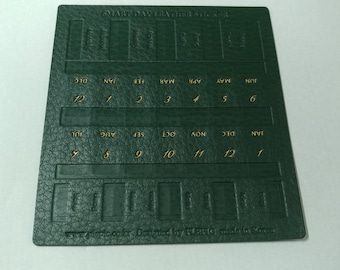 leather diary index sticker