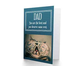 Dad Birthday Card, Fathers Day Card, Cards For Dad, Get Well Dad, You Are The Best and Deserve Some Rest CP3302