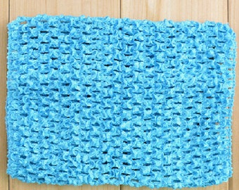 STRAPLESS STRETCH 0-16 MONTHS TURQUOISE CROCHET FOR CREATING BABY TUTU DRESS