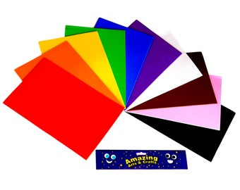 Craft Foam Sheets A4, 10 sheets assorted colours