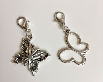 Butterfly stitch markers or progress keepers (set of 2)