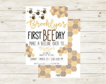 BEEday PARTY | Bee Party Invitation |  Bee Themed Party | Bee Party | BEEday | BEEday Birthday Party | Bee Birthday | Bee Birthday | Bees