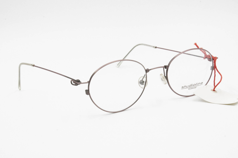 Vintage 80s thin metal frame oval lenses modern design STUDIO LINE ...