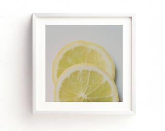 lemon print, instant kitchen art, lemon photo, nursery decor, yellow home decor, girls room wall art, citrus prints, food printable, cafe