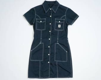FENDI - Cotton dress with short sleeves
