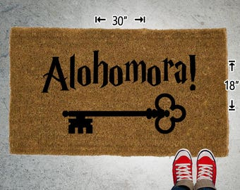 Alohomora! Coir Doormat - 18x30 - Welcome Mat - House Warming - Mud Room - Gift - Custom