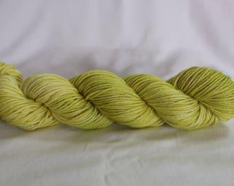 "Hand Dyed Yarn - Superwash - Worsted - 100% Merino Wool - Tonal - Variegated - 'Grellow"""