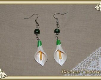 104001 Calla Flower Earrings