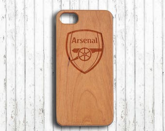 Arsenal club iphone 7 case Wood iphone 6s case custom football team phone case,personalized initial wooden iphone 7 plus case