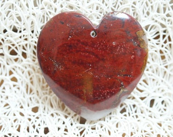 HEART shape Jasper PENDANT