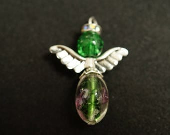 Angel PENDANT in silver and glass bead