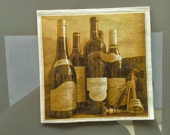 set of 2 paper napkins rare whisky, wine and company