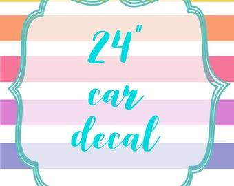 """24"""" White or Multi-Color Car Decal"""