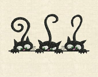 Machine embroidery designs cats