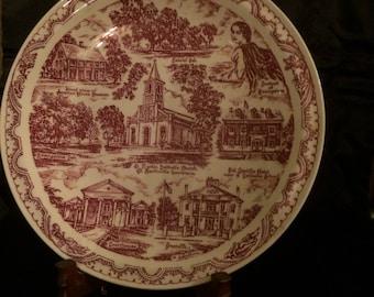 Vintage St Martinville, LA Vernon kilns Collectors Plate