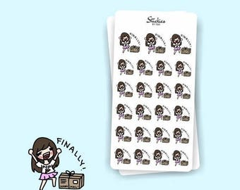 SALE HAPPY MAIL Sarah | Planner Stickers, Mail, Delivery, Package, Arrival, Sticker Order, Orders, Scrapbook, Calendar | Sd27