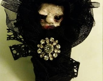 Creepy dolls handmande little demon for witches