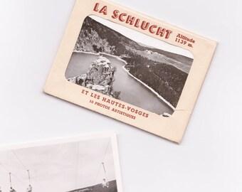 Vintage Souvenir: ravine & Vosges Photograph.