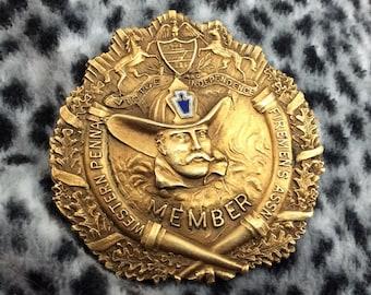 Beautiful Vintage Western Pennsylvania Firemens Association Member badge