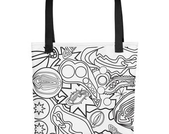 Abstract Fixation Tote