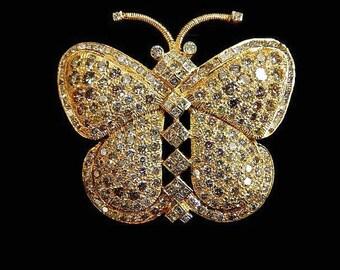 DIAMOND BUTTERFLY PIN - 4968tt163
