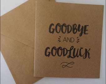 Gift Card - GOODBYE & GOODLUCK