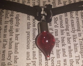Blood Vial Glass Bottle Necklace