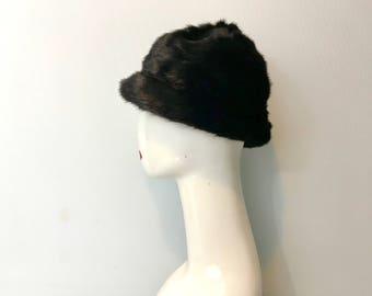True Fur Hat Black Mink