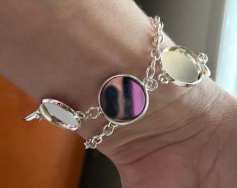 Custom 8 charm wrap bracelet for amanda