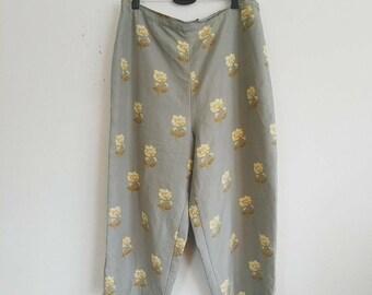 Vintage Floral Culotte Pant