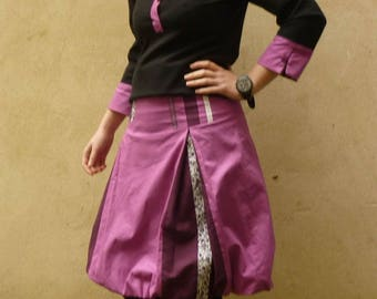 Purple and plum T36 ball skirt