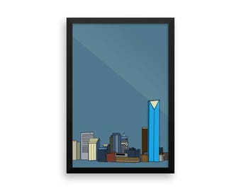 Framed Print- Downtown Oklahoma City