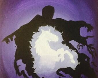 Customized Dementor and Patronus Painting