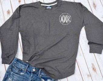 custom monogram sweatshirt- fall monogram shirt- monogram sweater- custom sweater-  monogram top- monogram shirt