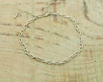 4 x silver plated chain bracelet