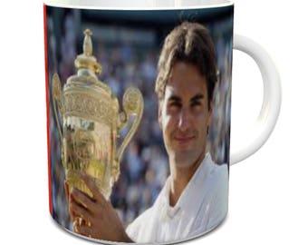 Roger Federer wimbledon winner 2017 mug