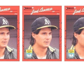 5 - 1990 Donruss Learning Series #6 Jose Canseco Baseball Card Lot Athletics