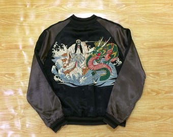 Reversible Embroidery Crows x Ghost Ryu Sukajan Souvenir Jacket