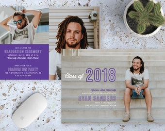 Male Graduation Announcement