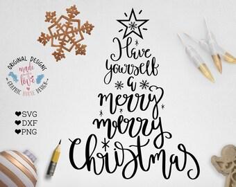 Christmas SVG, Christmas Cut File, Christmas Printable in svg, dxf, png, Christmas SVG Files, Silhouette, Cricut, Merry Christmas SVG,