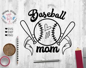 Sports svg file, baseball mom svg, baseball cut file, Baseball Mom Cut File in SVG, DXF, PNG, Baseball tshirts design, Baseball Cricut File