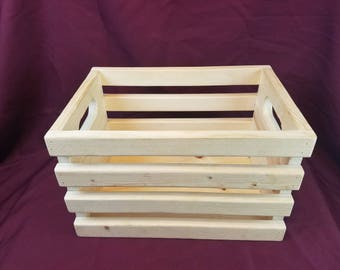 Wooden Storage Crate Country Rustic and Wedding Decor Kids Toy Storage, Photo Prop