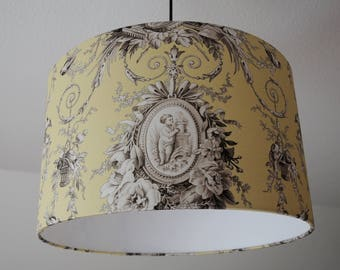 """Ceiling lamp """"Toile de Jouy"""" (amulets)"""