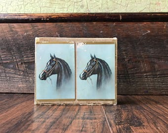Vintage Horse Duratone Playing Cards