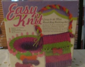 Easy Knit Easy to Make Mini Handbag Knitting Kit (age 8+)