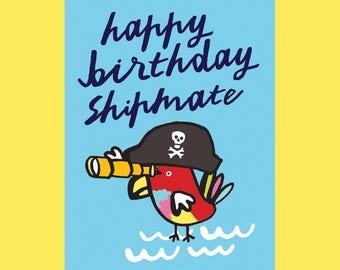 Happy Birthday Shipmate, A6 card