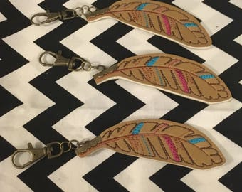 Feather key fob