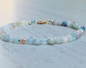 Morganite Stone Bracelet